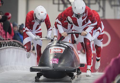 Czwórka bobslejowa na 13. miejscu