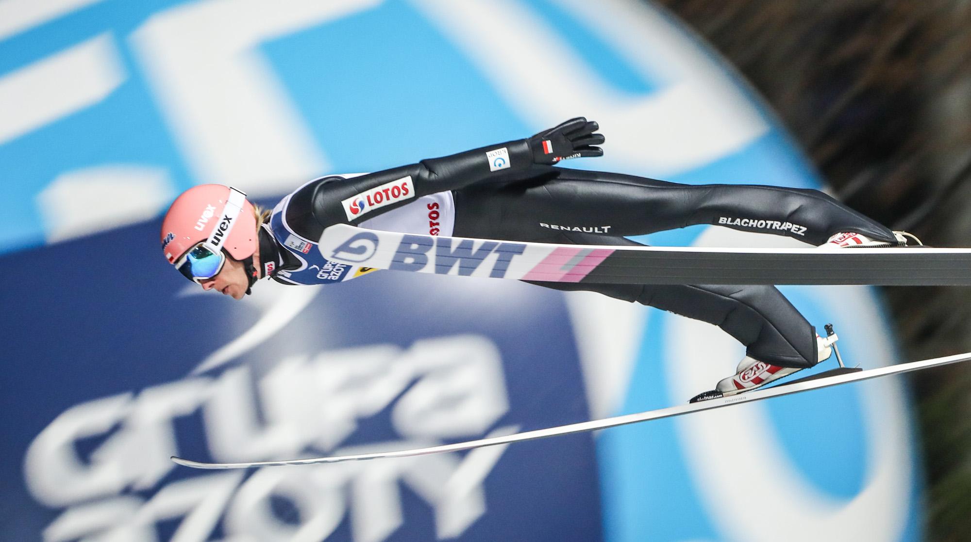 Dawid Kubacki na podium Pucharu Świata w Ruce
