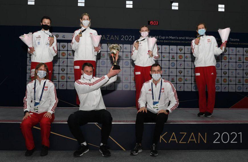 Polskie szpadzistki najlepszą drużyną PŚ w Kazaniu!